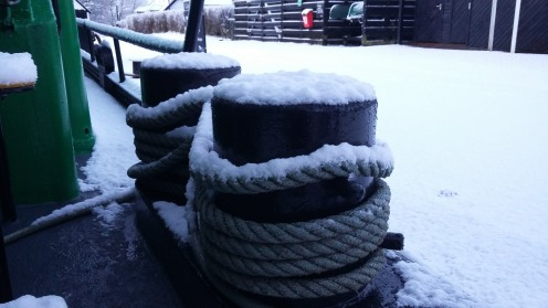 Ship-shape in the snow.